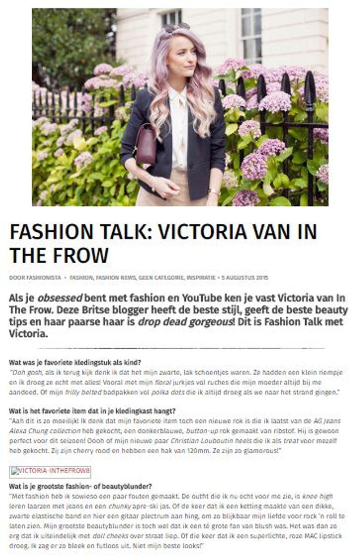Fashionista.nl Blogger Interviews