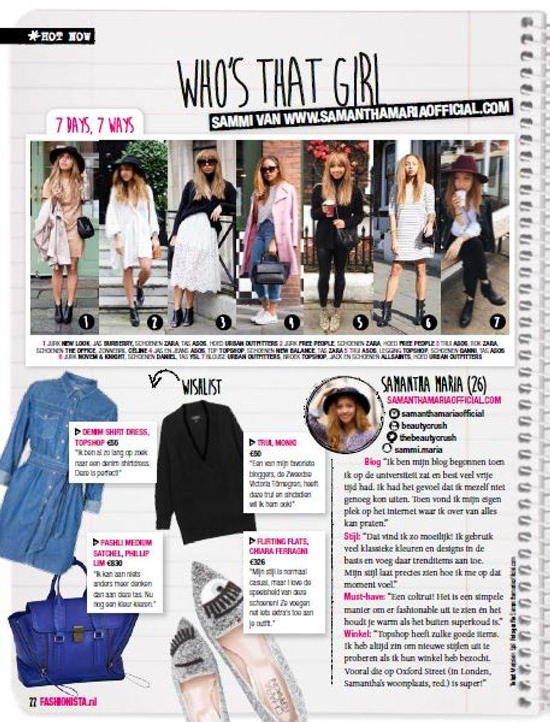 Fashionista Print Media: Who's that Girl?