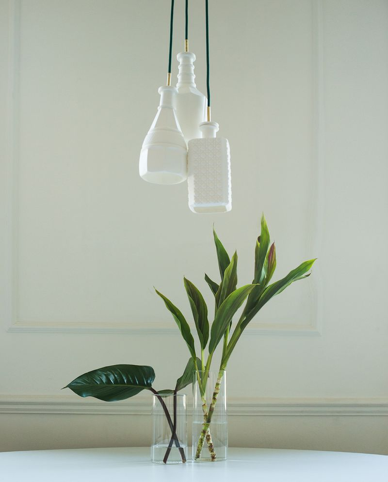 Hanging lights by Pour Studio