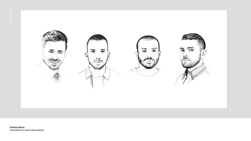 Fashion Beans- illustrations for website