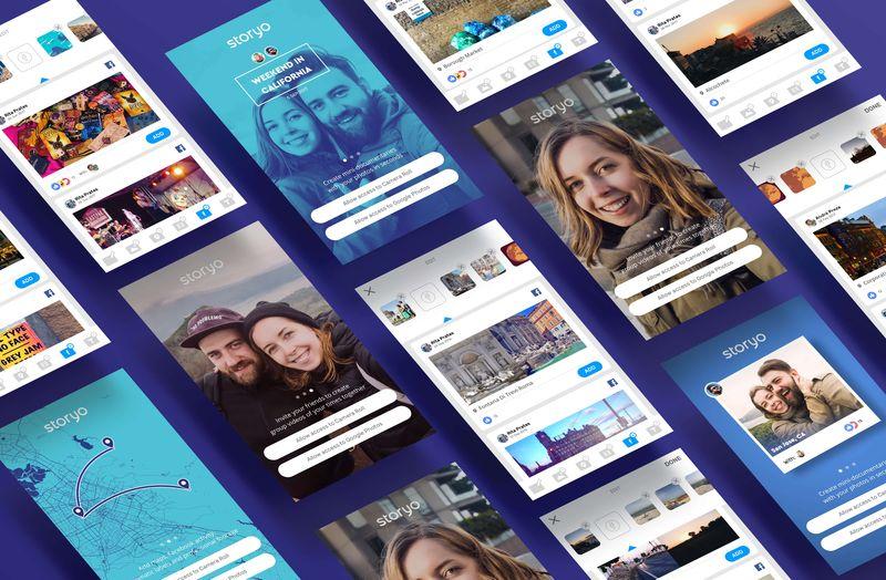 Storyo app Facebook integration & Onboarding