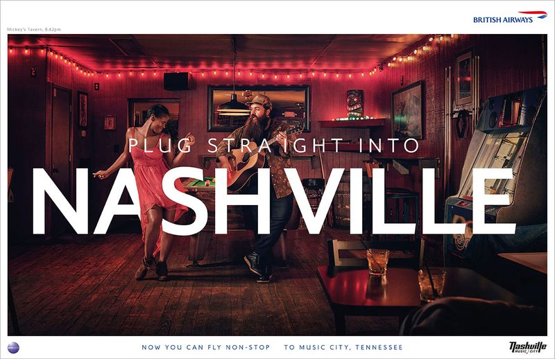 SAM BARKER PHOTOGRAPHS BRITISH AIRWAYS NASHVILLE CAMPAIGN