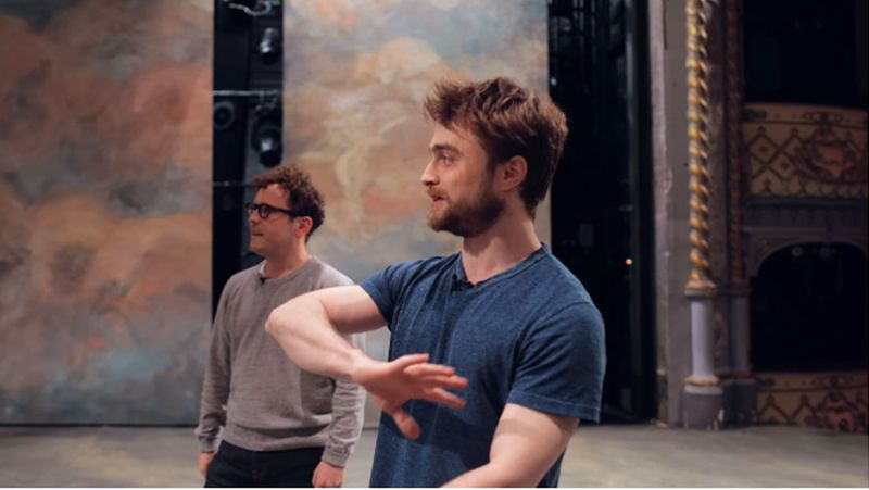 Daniel Radcliffe and Joshua McGuire give a tour of The Old Vic