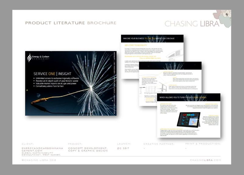 Product Literature | Content & copy development, graphic design & print production