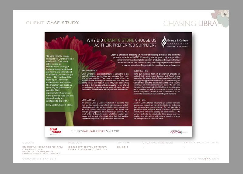 Case Study | Content & copy development, graphic design & production