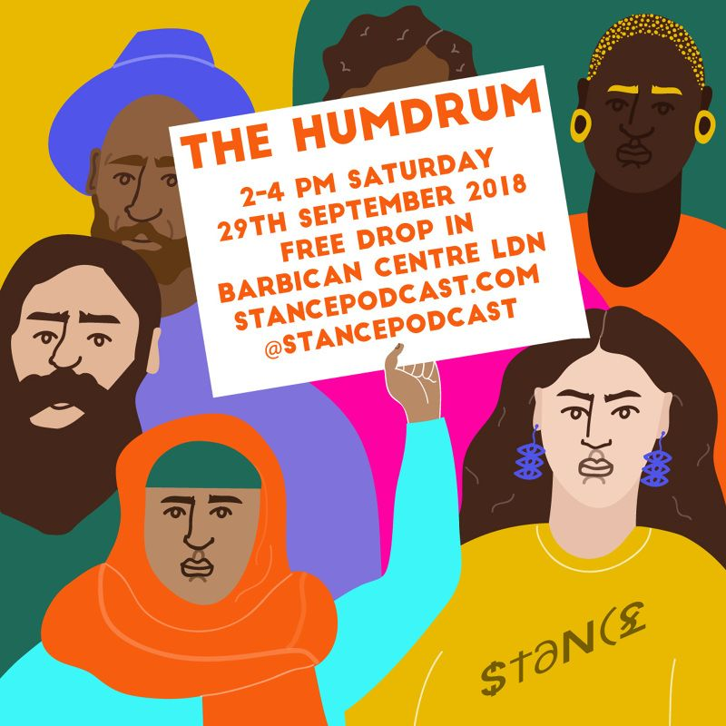 The Humdrum | The Barbican x Stance Podcast | Erin Aniker Illustration