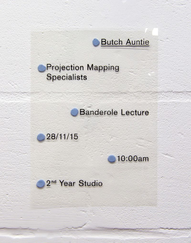 Butch Auntie Lecture Poster