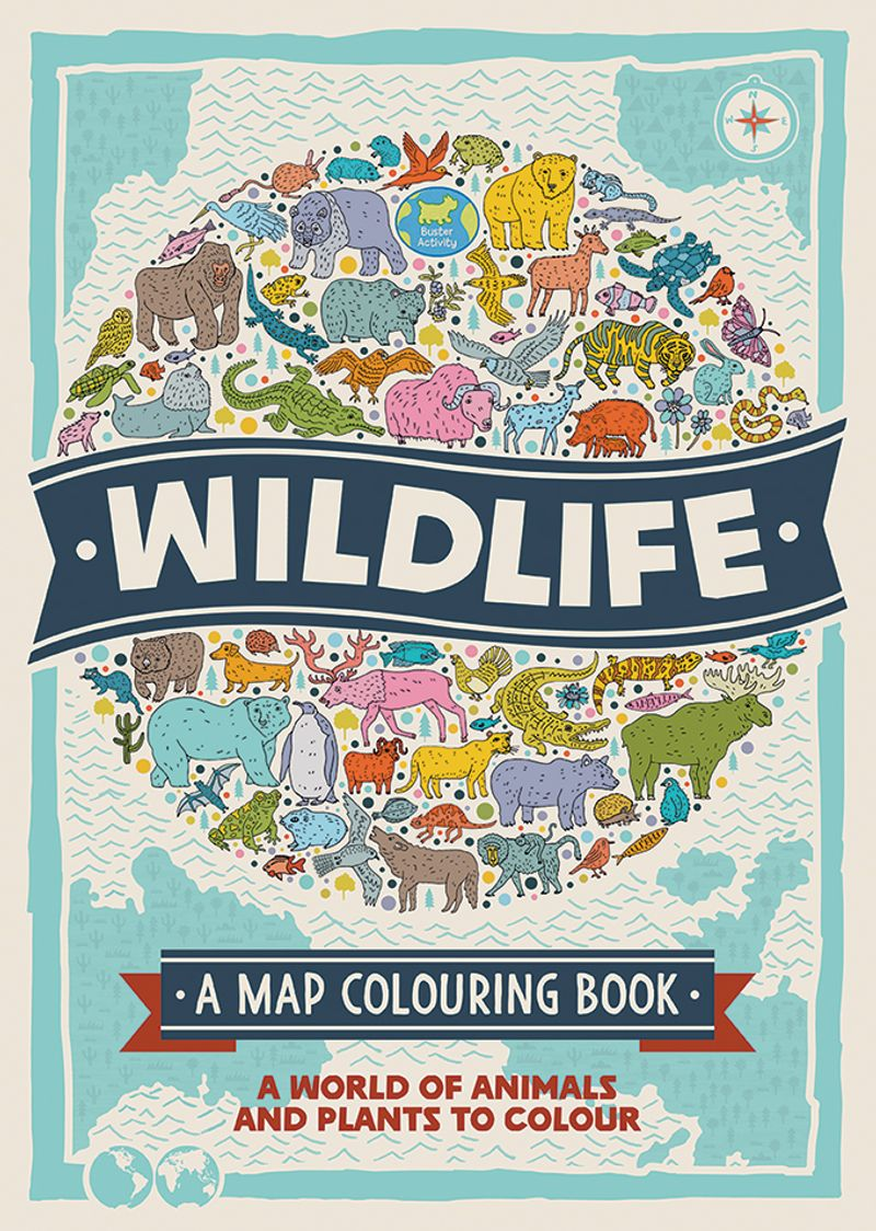 Wildlife : A Map Colouring Book