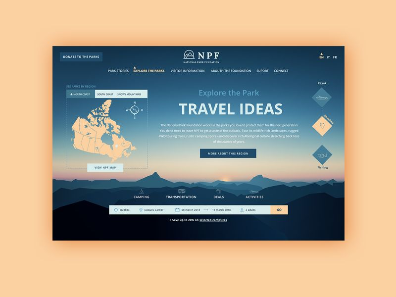 National Park Adventure Homepage Animation