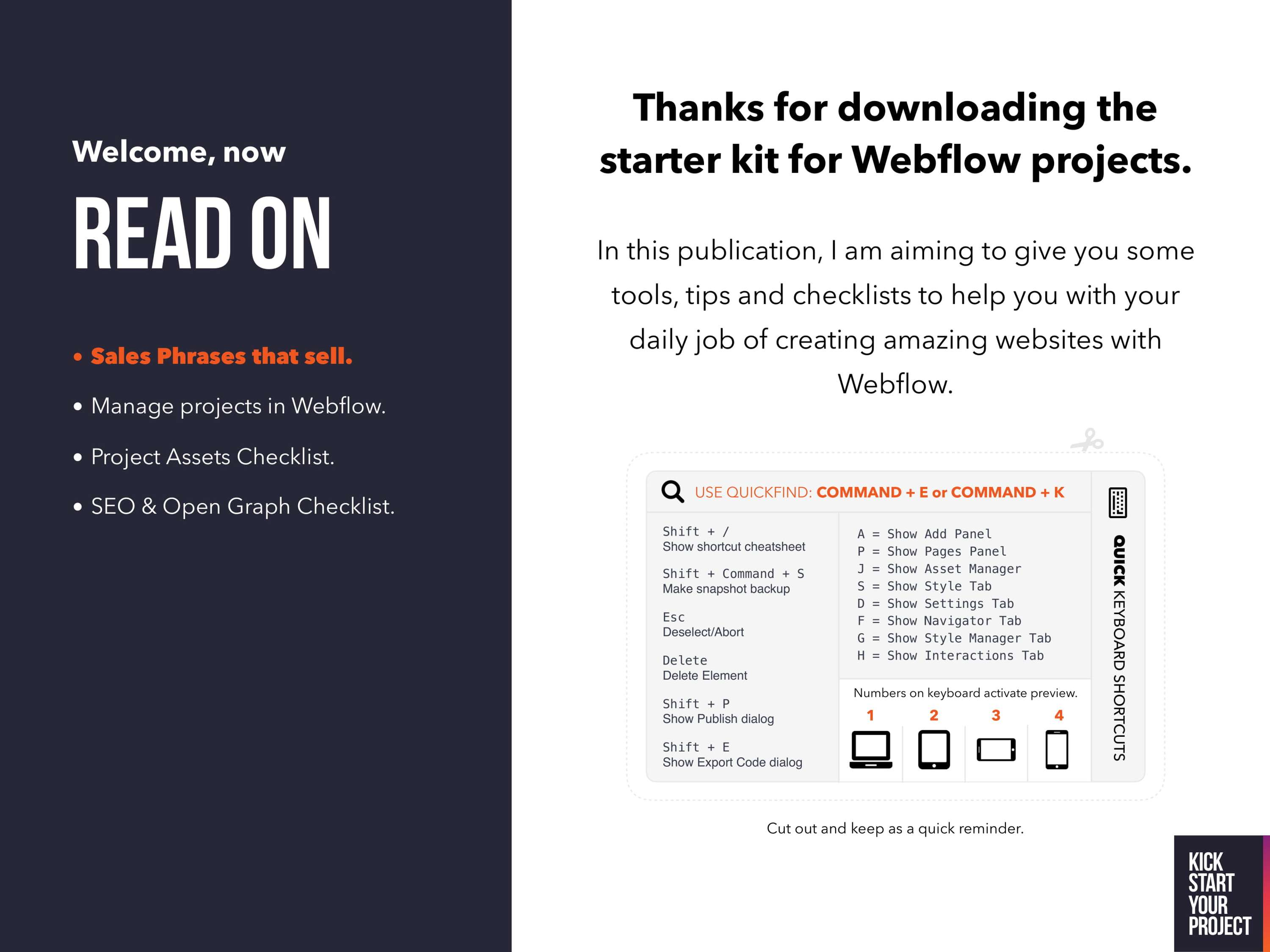 Skillshare training course and assets for Webflow  | The Dots