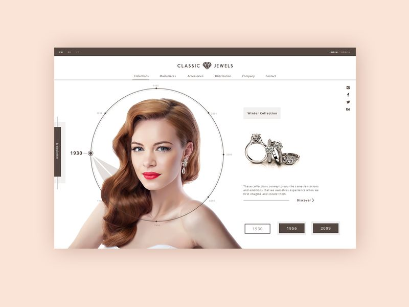 Jewelry Manufacturers Homepage Animation
