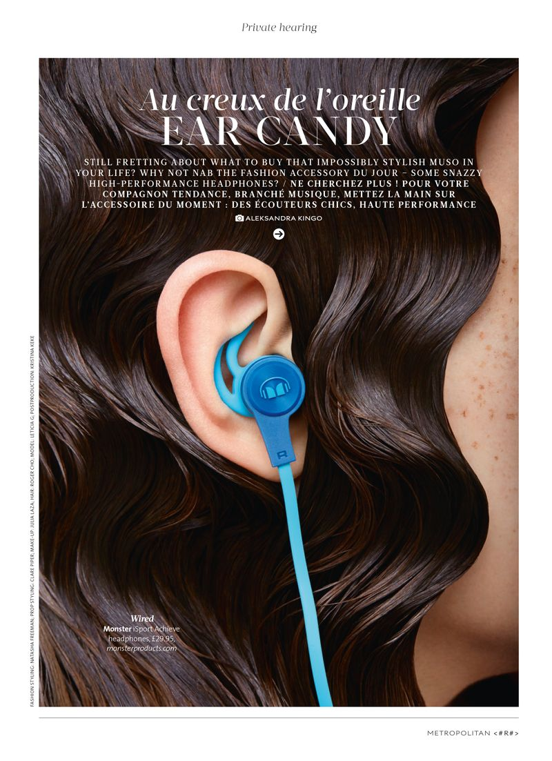 """Ear candy"" editorial for Metropolitan magazine"