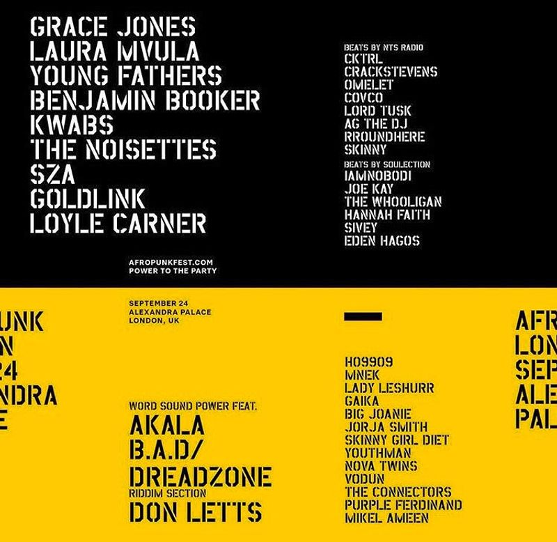 AFROPUNK  ARMY UK 2016