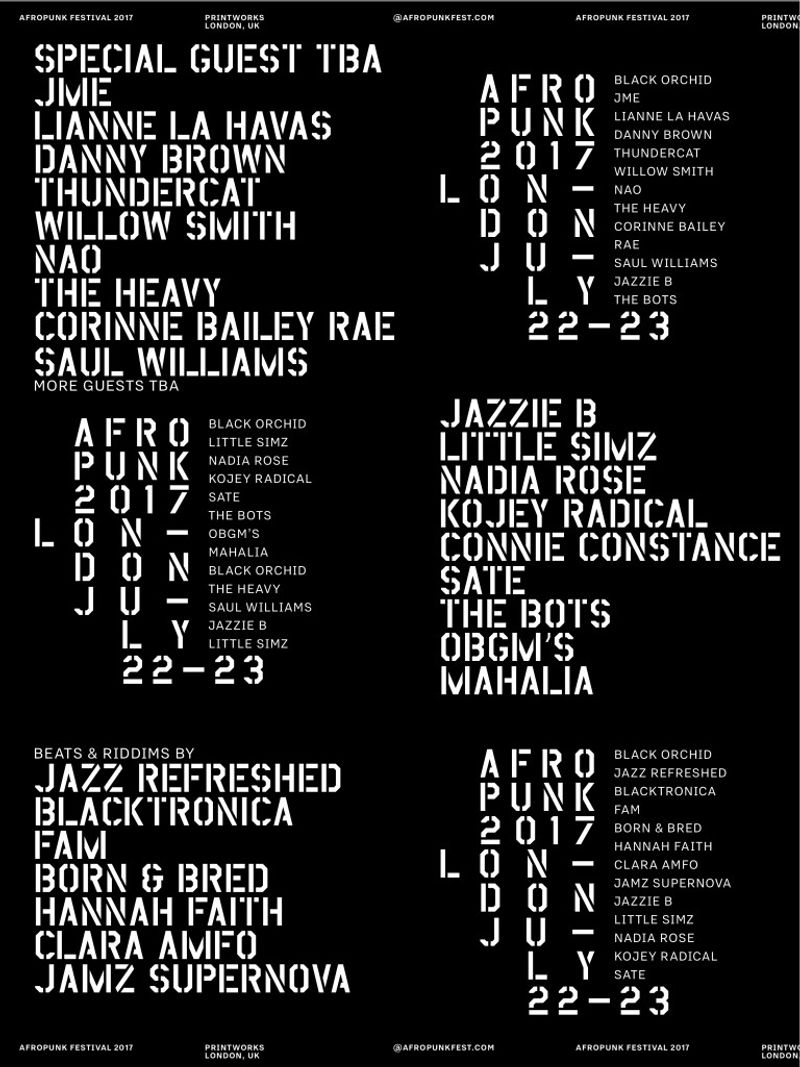 AFROPUNK London Street Team 2017