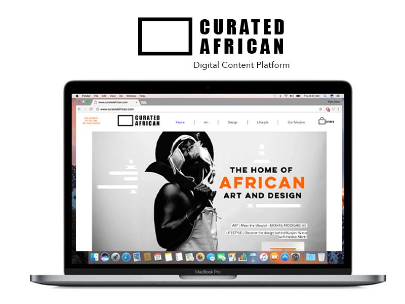 CURATED AFRICAN  (E-Commerce Social Enterprise Design)