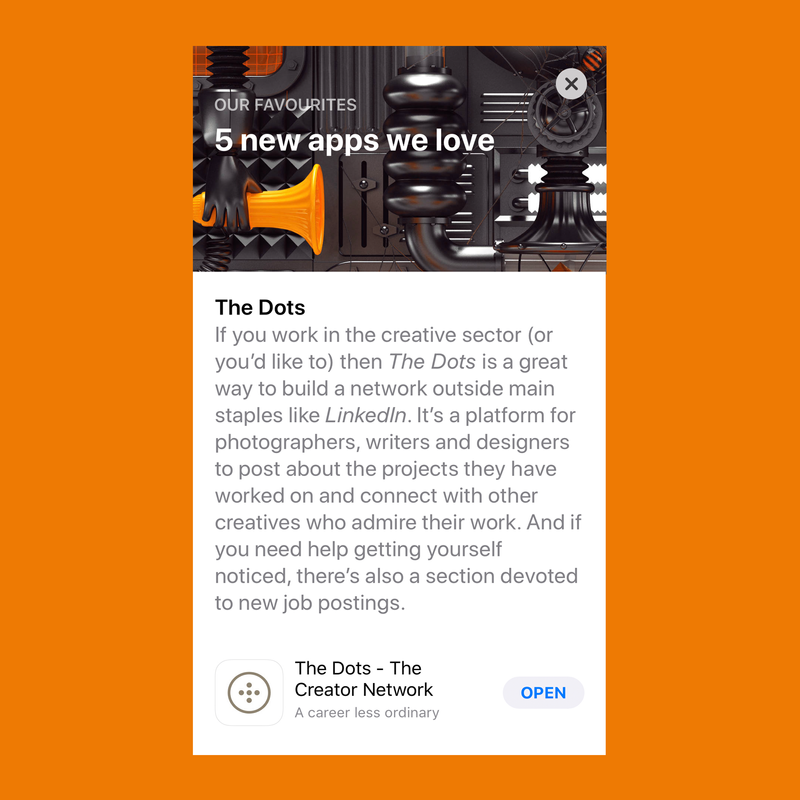 The Dots | Apple App Store Feature | 5 new apps they love