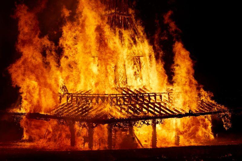 Temple: Bonfire Installation