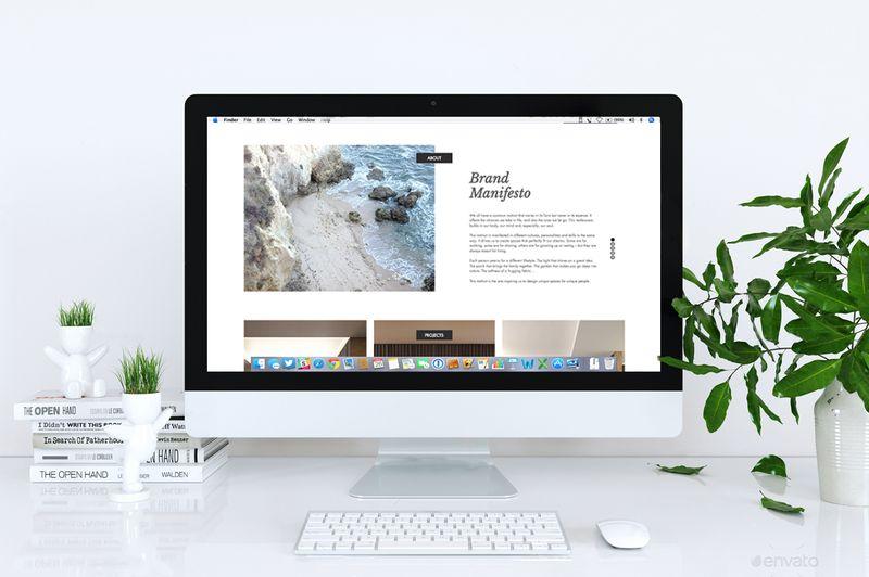 Web design for an architecture and interior design company.
