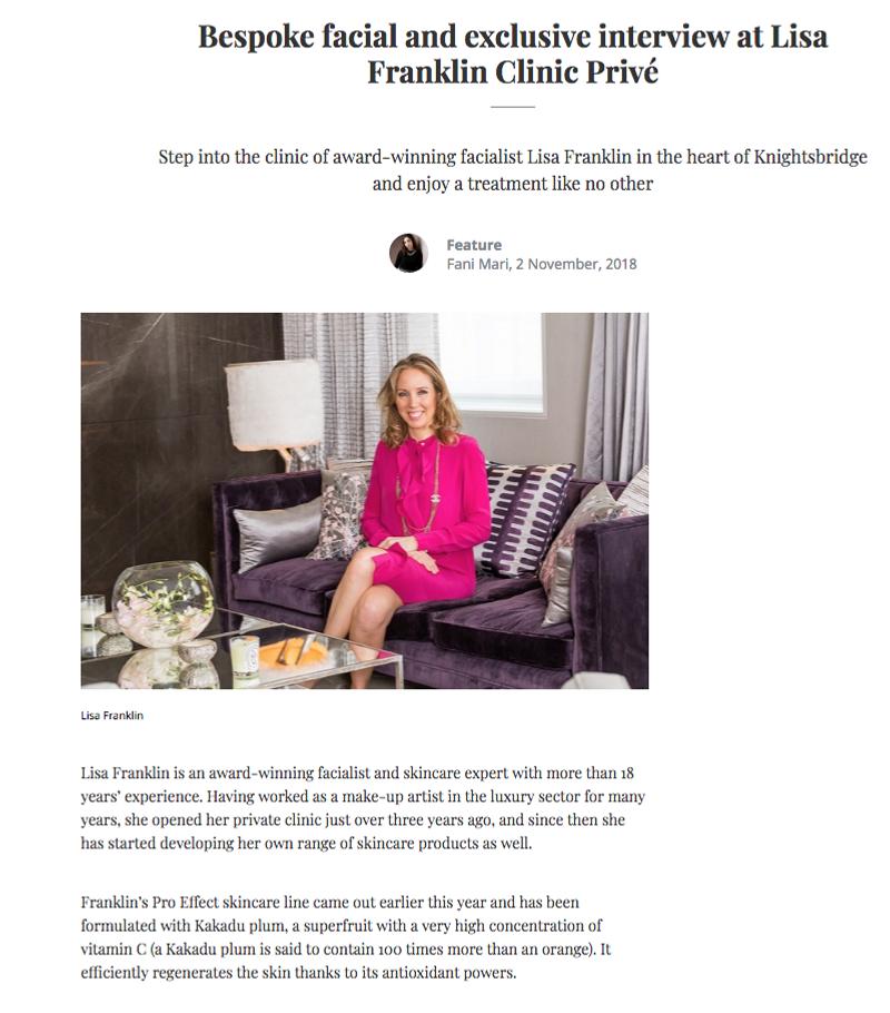 Lisa Franklin Clinic Privé & exclusive interview