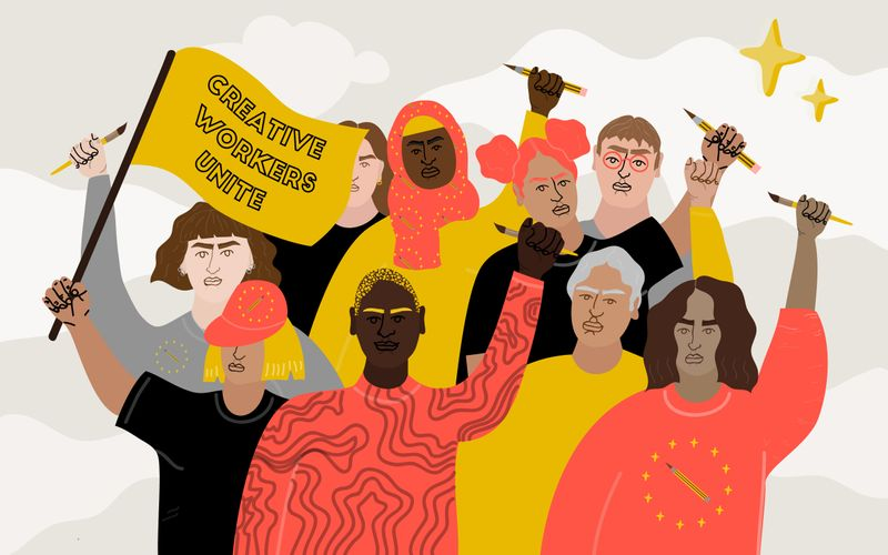 Inside the Fight For Freelance Protections Under the German Welfare State |  AIGA Eye on Design | Erin Aniker Illustration
