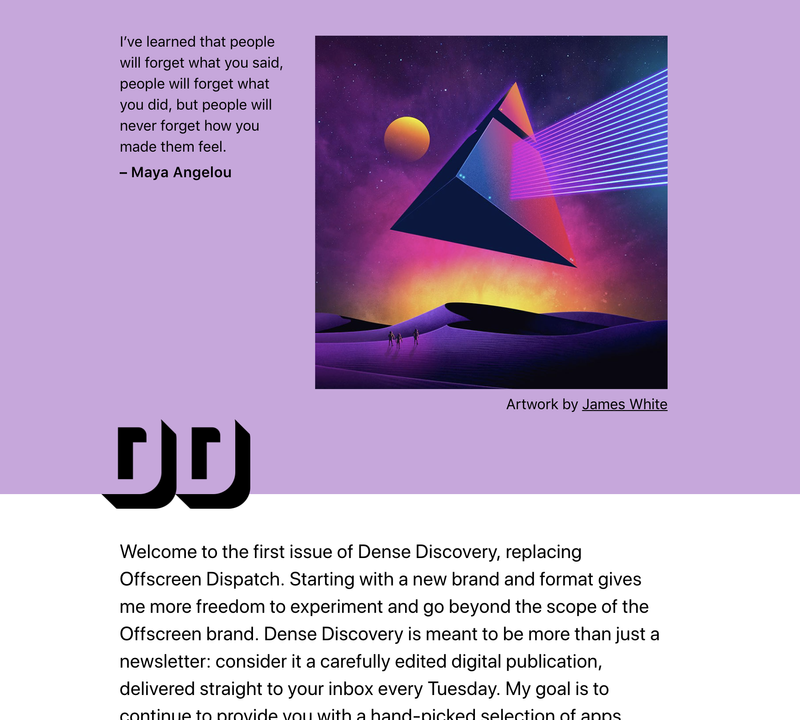 Dense Discovery –  sign up here