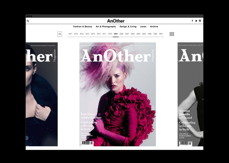 AnOther Covers Archive Site