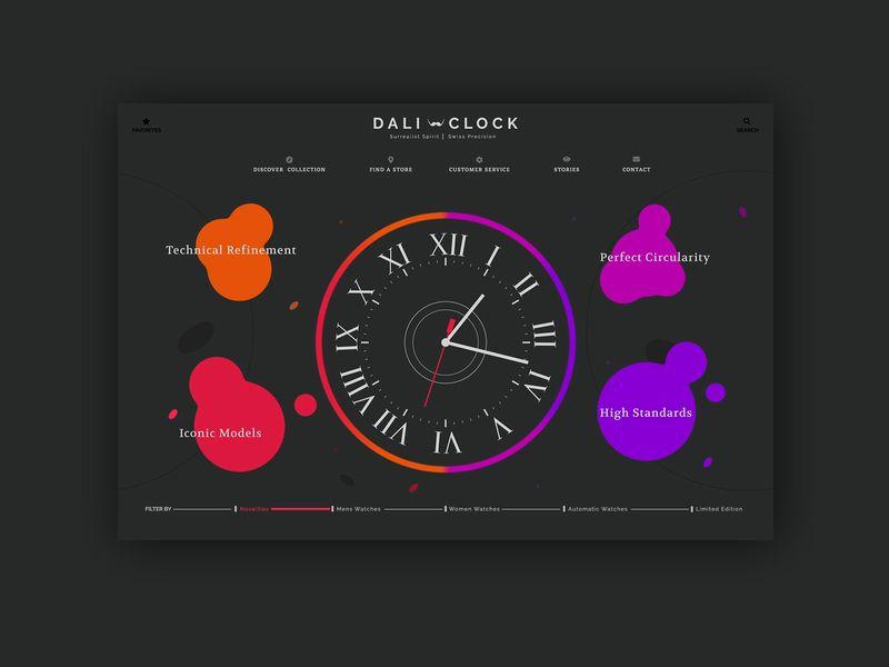 Dali Clock Homepage Animation