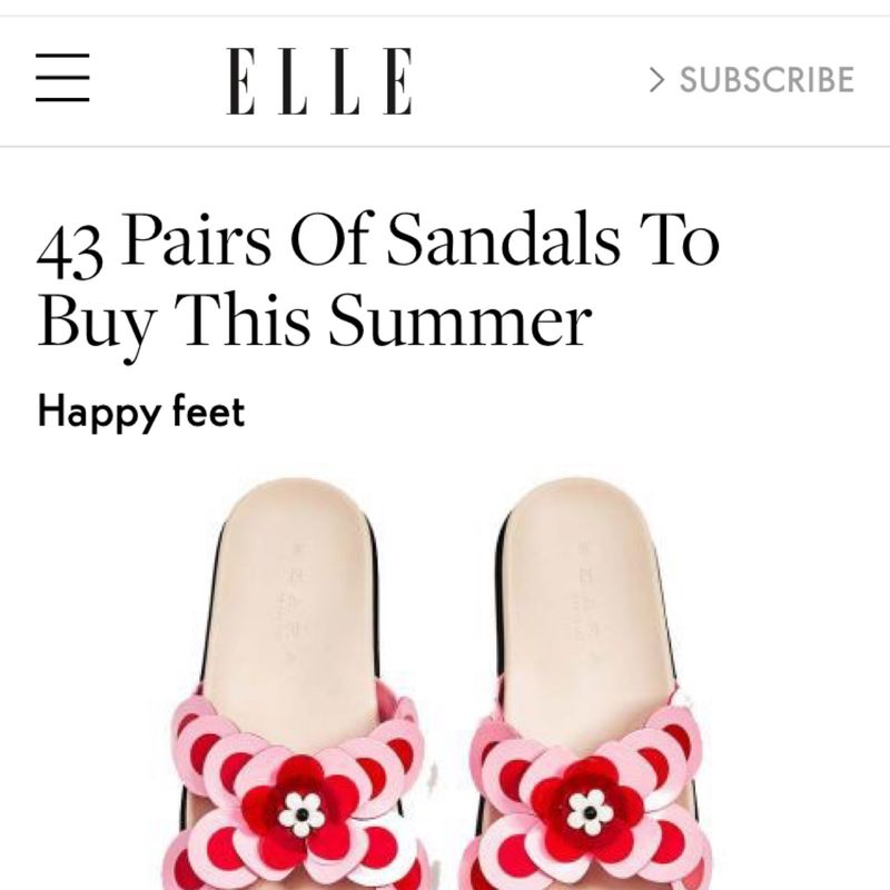 Shoes designed for Zara SS17 featured on Elle UK