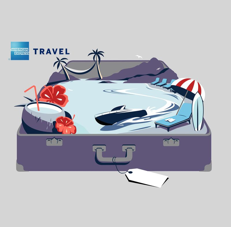 American Express Travel Illustration