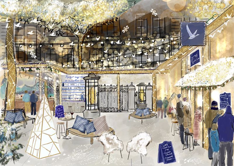 French Winter Village by Grey Goose at The Langham Hotel, London