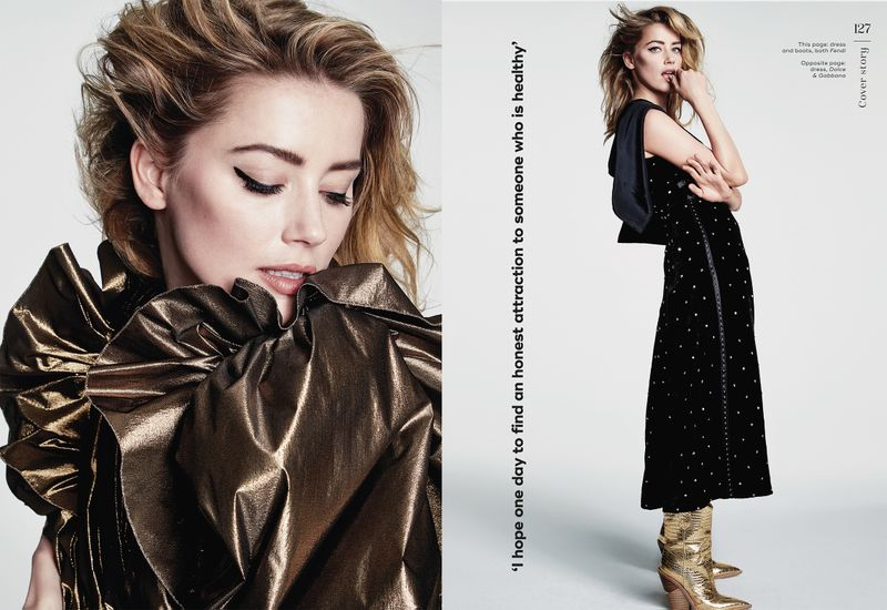 Cover star Amber Heard Marie Claire UK Dec 2018