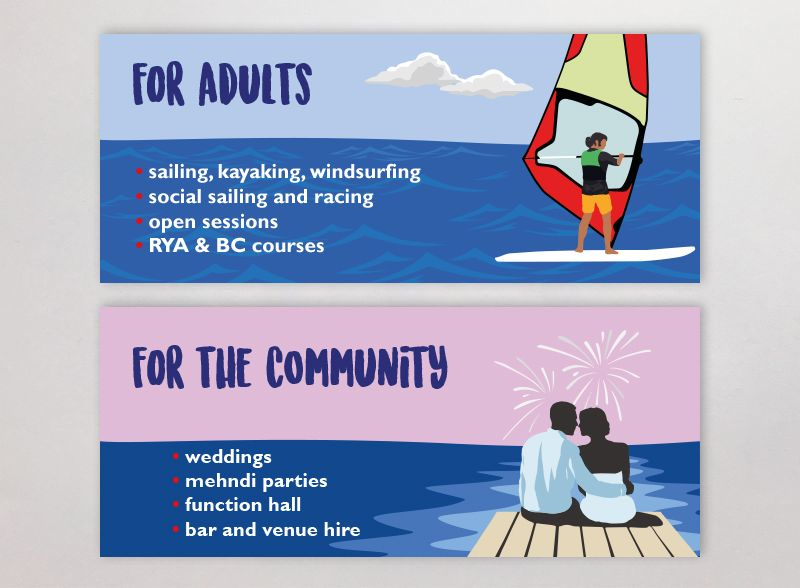 Docklands Sailing and Watersports Centre banners