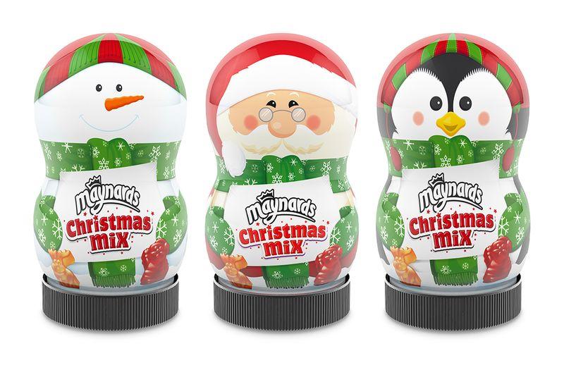 Maynards Christmas Jellies Christmas Character Jars