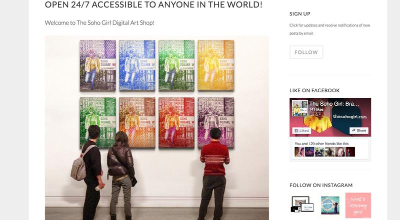 The Soho Girl: Instant 'downloadable' Digital Art