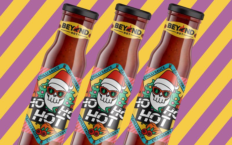 """""""Ho Ho Hot"""" Hot Sauce Label Illustration, Design, Gif"""