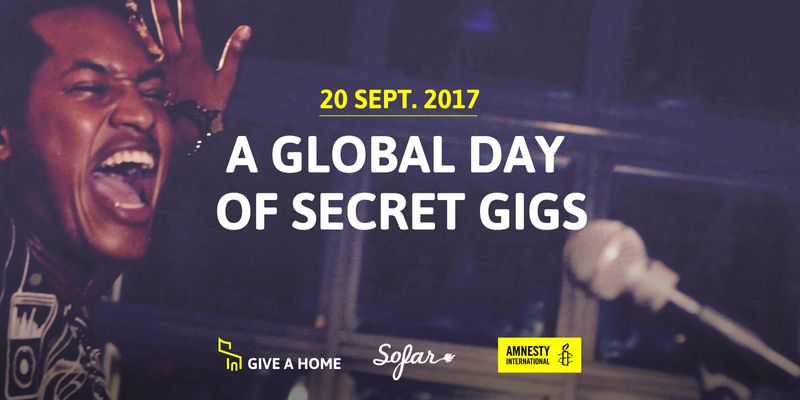 Give a Home: 300+ concerts for Amnesty International and the world refugees