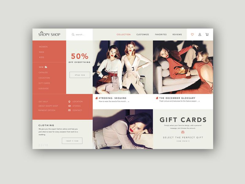 Fashion Shop Homepage ► Web Design