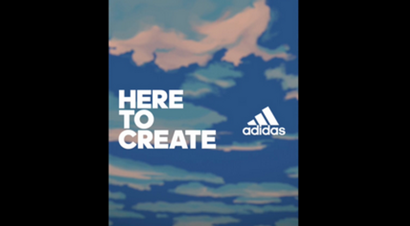 Adidas - Here To Create. 2018 Worldcup reactive online content.