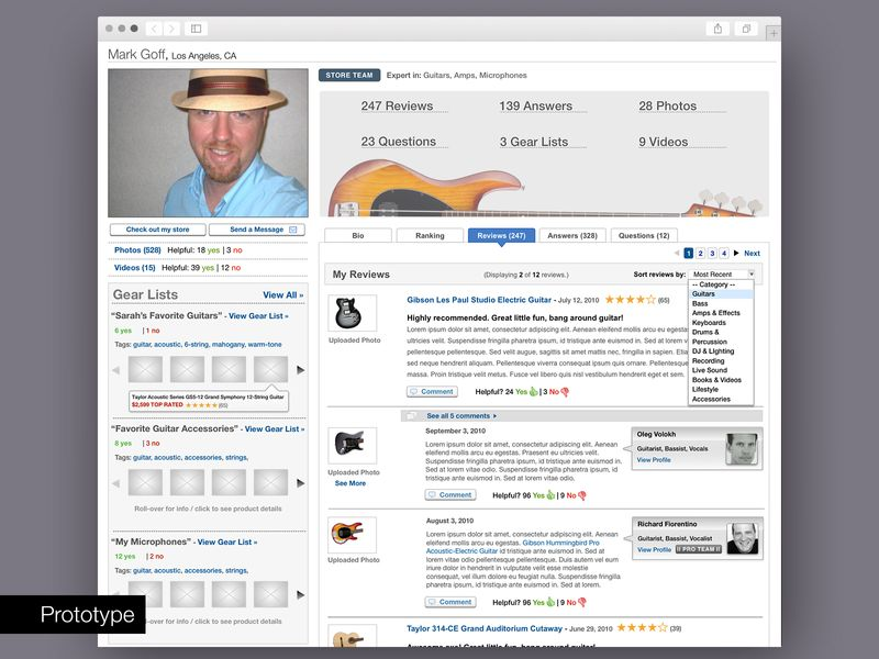 Guitar Center - UX/Product Design and Strategy