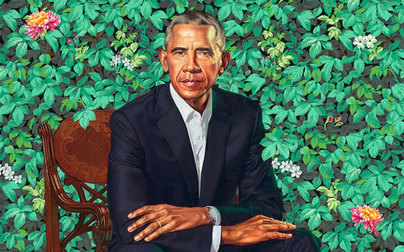 Mountains, quilts and a wedding ring: why the Obama portraits matter