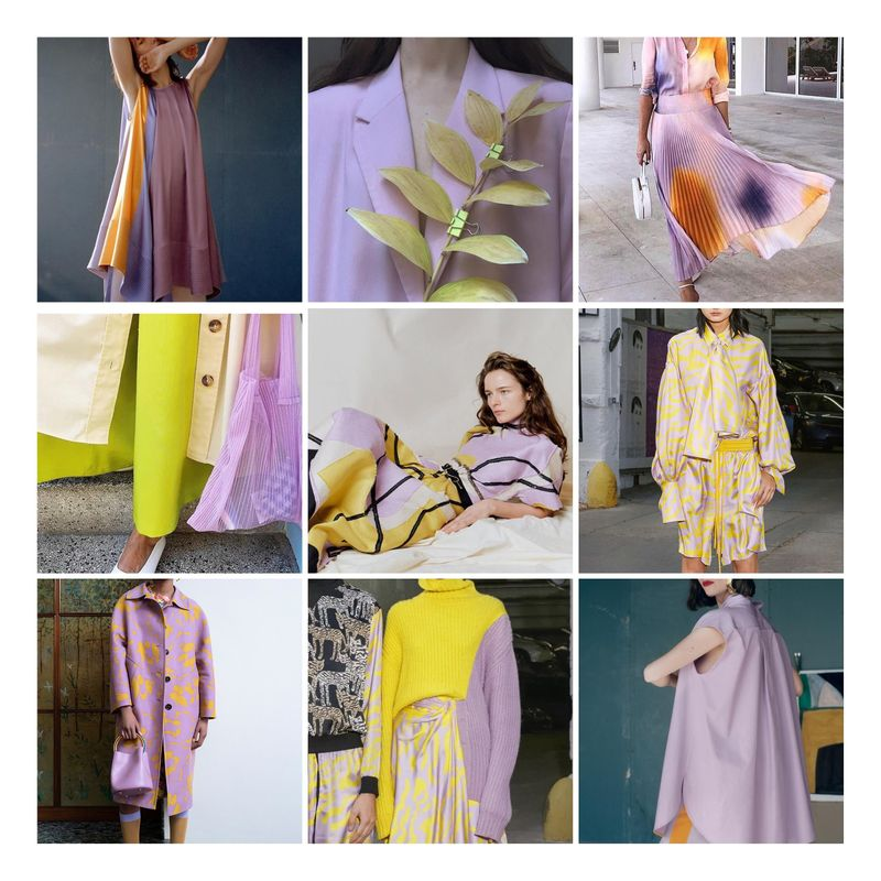Lilac and Acid Yellow S/S'20 colour palette trend