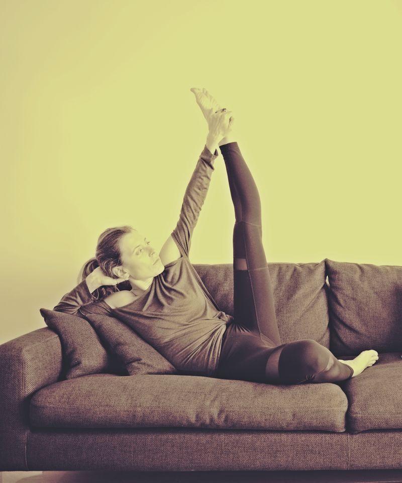 Yoga-based photoshoot
