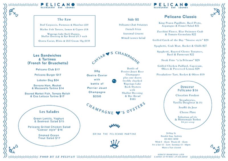Menu Design for Pelicano