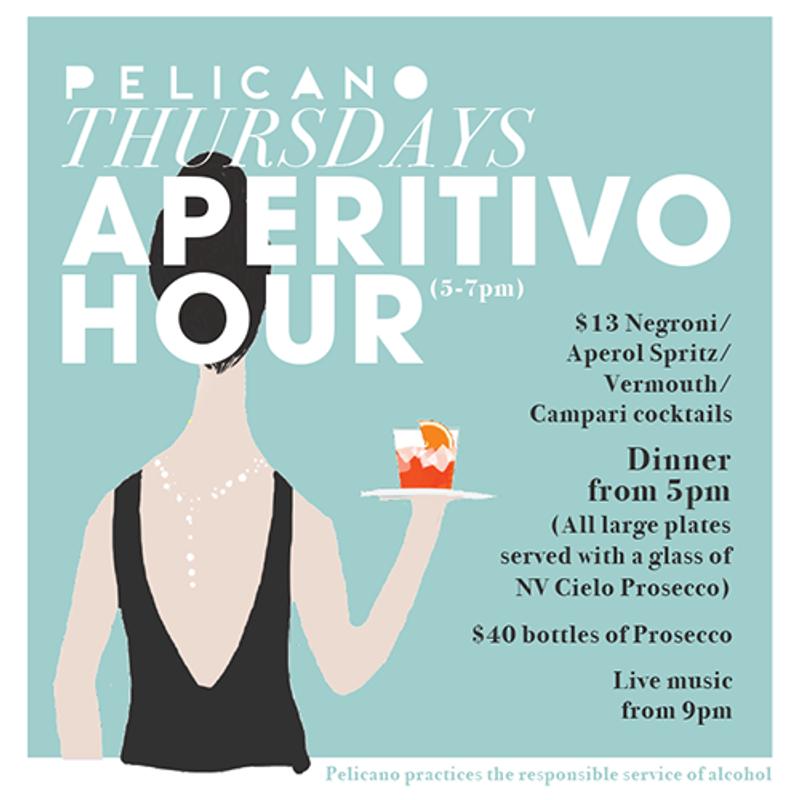 Aperitivo Hour Promotion for Pelicano