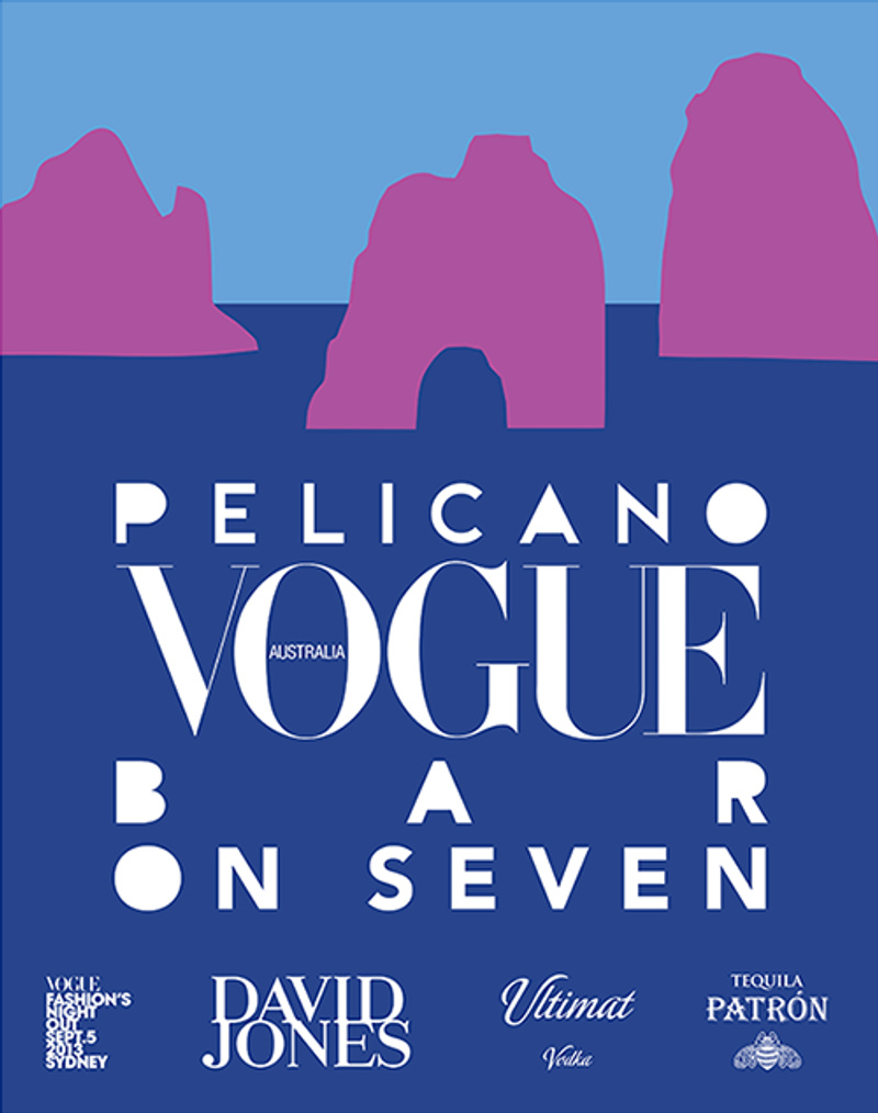 Promotion for Pelicano and Australian Vogue Pop Up