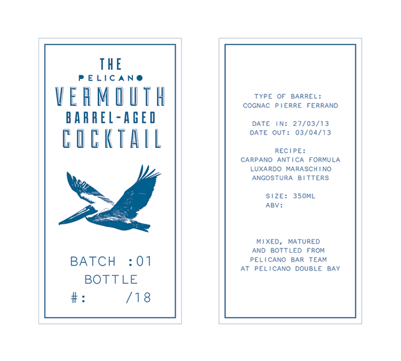 Bottle Label Design for Pelicano