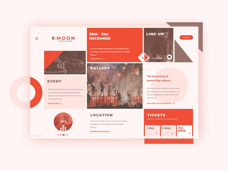 Event Homepage ► Web Design