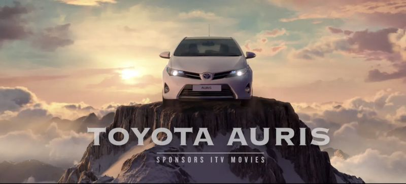 Toyota sponsors ITV Movies.