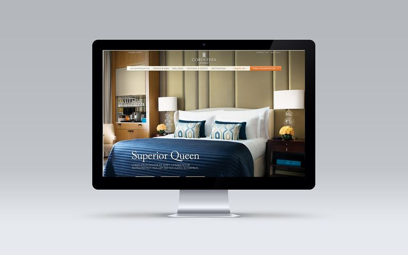 Corinthia Hotels Global Website Redesign