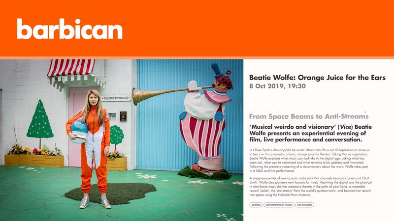 The Barbican Commission Beatie Wolfe documentary - 2019
